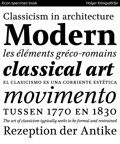 acon typeface