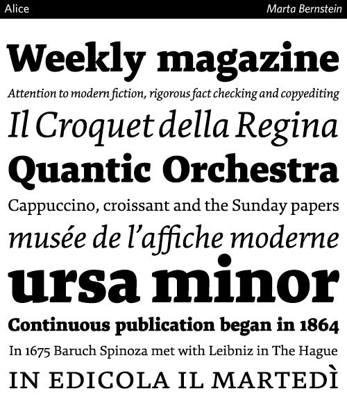 alice typeface