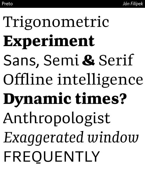 preto-typeface