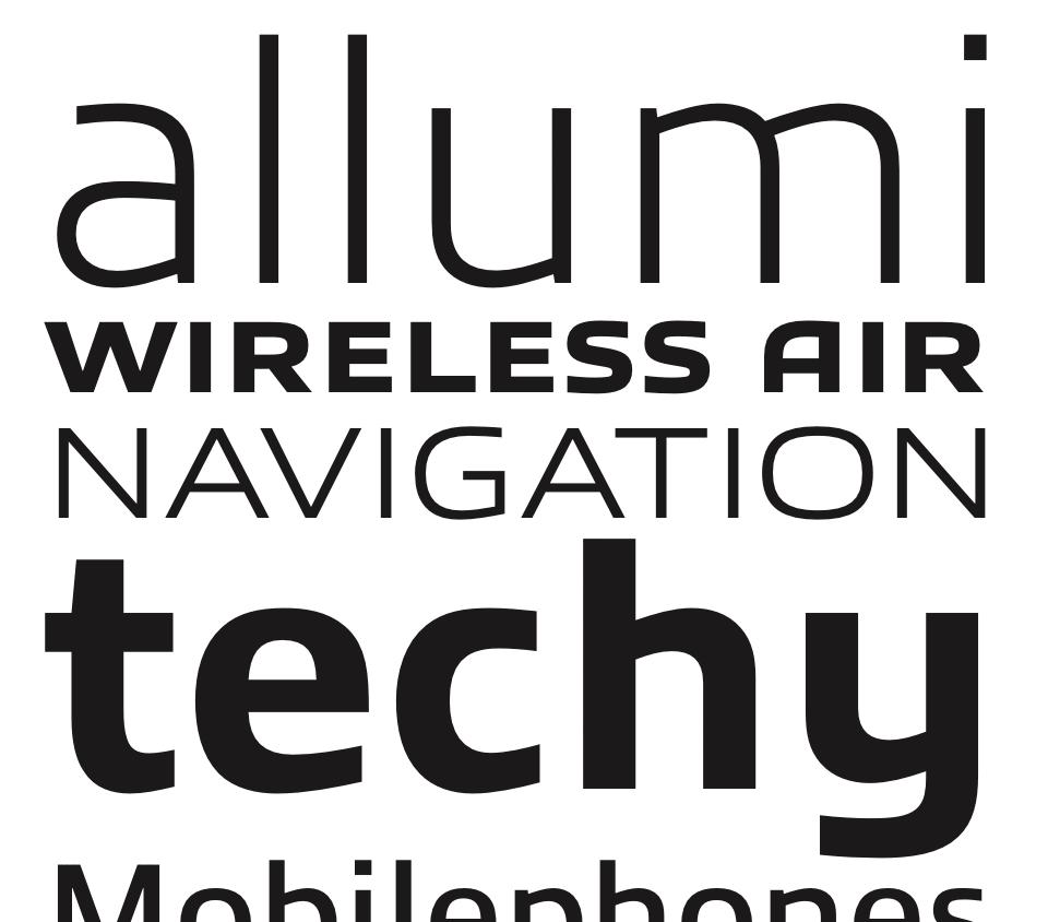 Allumi best fonts of 2009