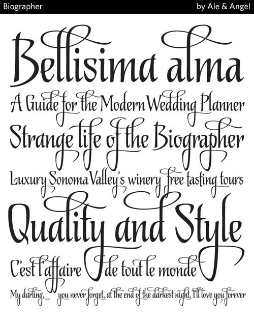 biographer font