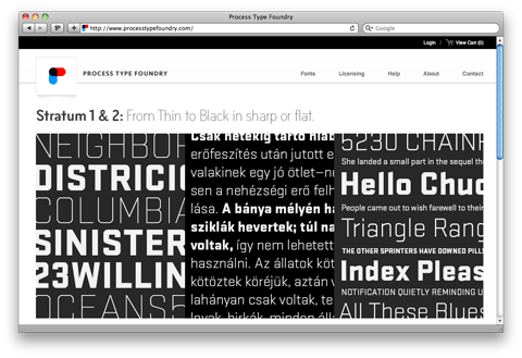 Process Type Foundry's new site