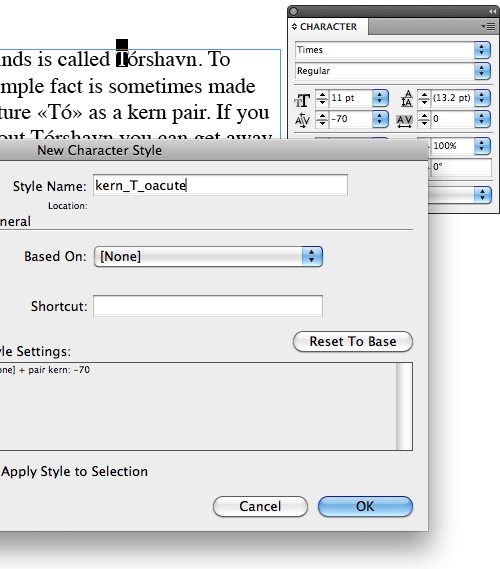 Custom kerning in Adobe InDesign with GREP
