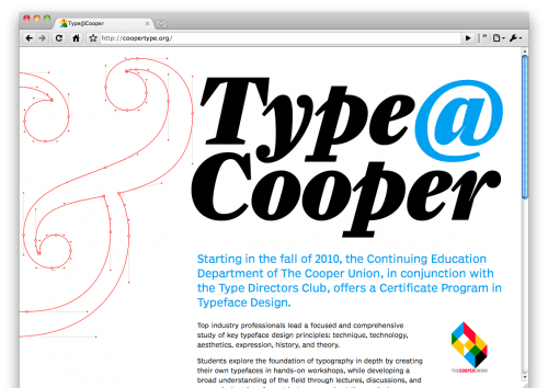 Typeface design at Cooper Union