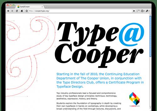 Typeface design at Cooper Union