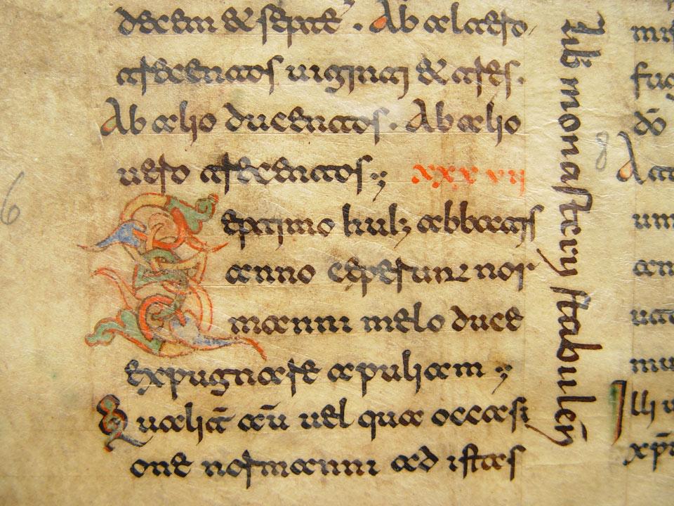 Beneventan script circa 1100