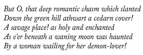 Caslon Italic Poetry Sample