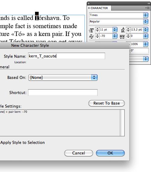Custom kerning in Adobe InDesign with GREP