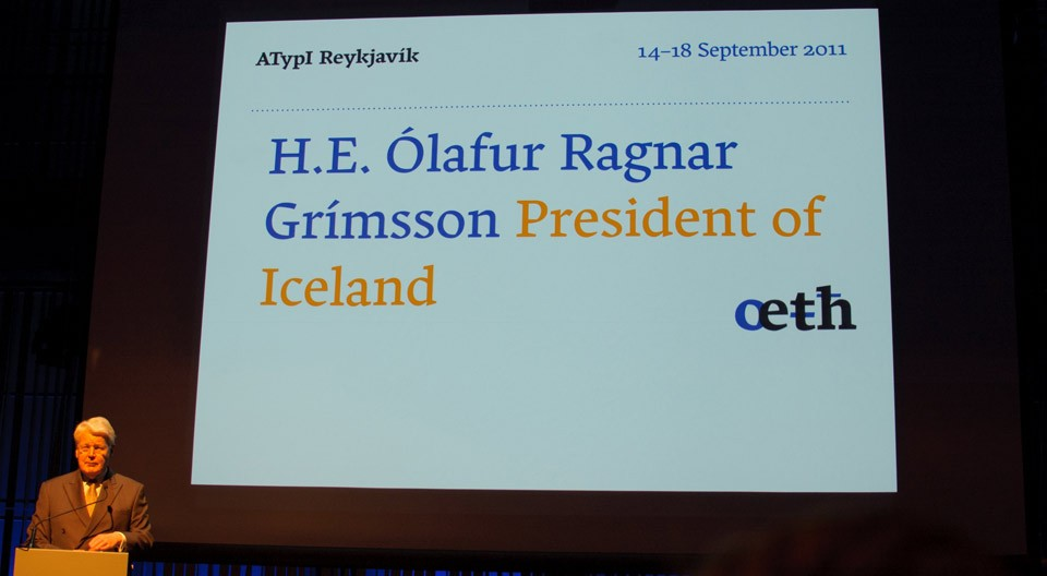 President of Iceland at atypi