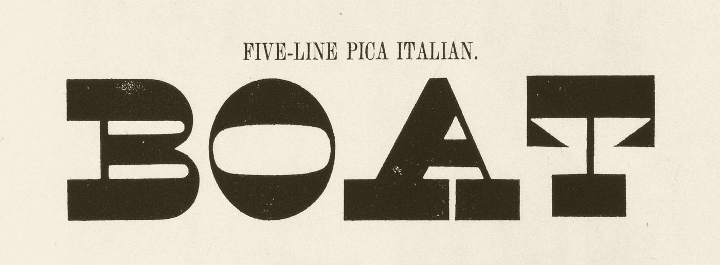 Five-Line Pica Italian