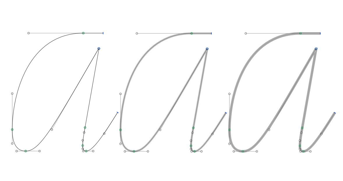 Stroke weights in Glyphs