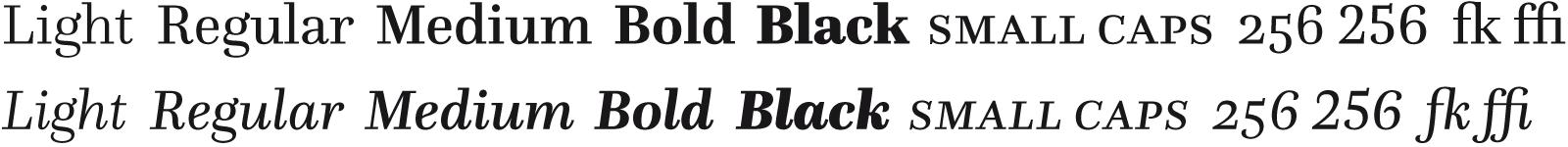 [09] Serif Light to Black
