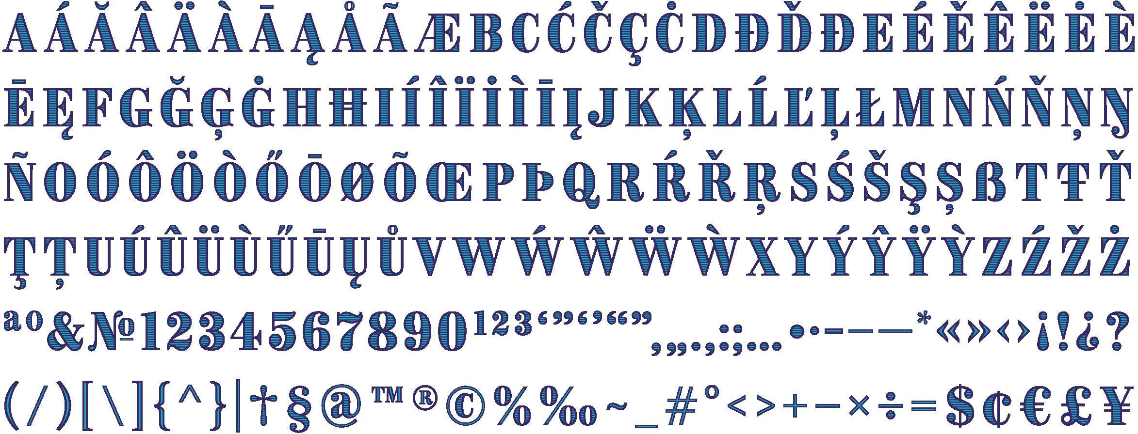 Image 11 character set