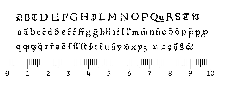 Roman font of Theobald Schenkbecher