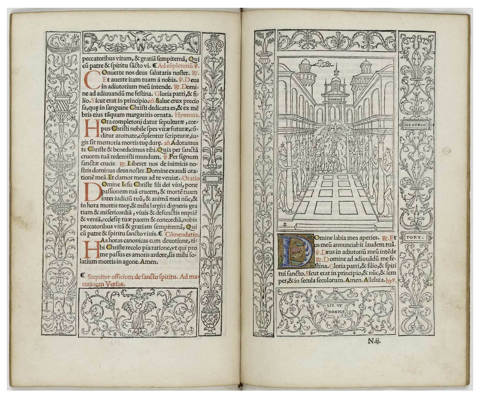 1525 Book of Hours published by Colines and Tory