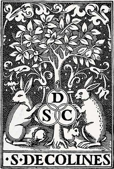 Simon de Colines' early printer's devices: rabbits