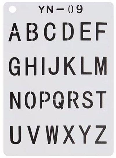 12 Pack Letter & Number Stencils