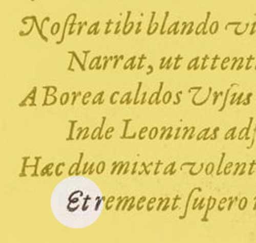 italic / cursive / swash e