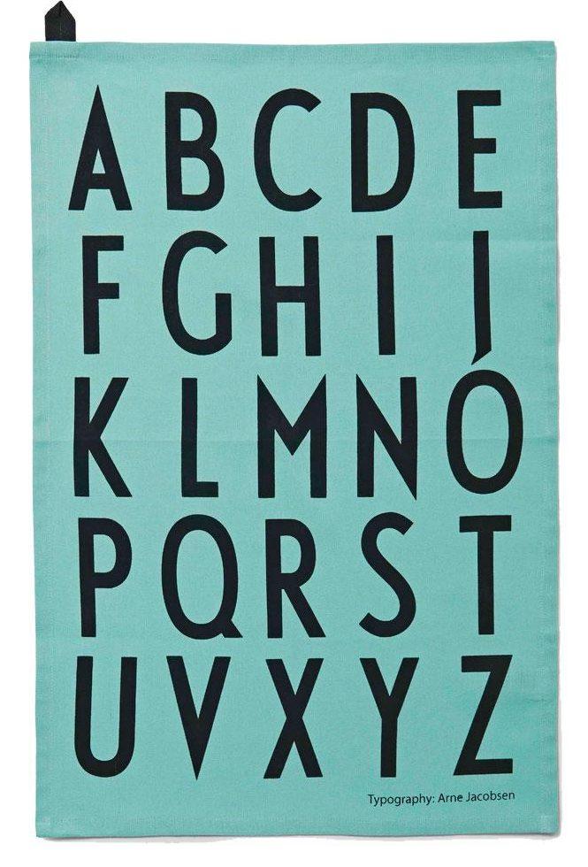 Typography tea towel