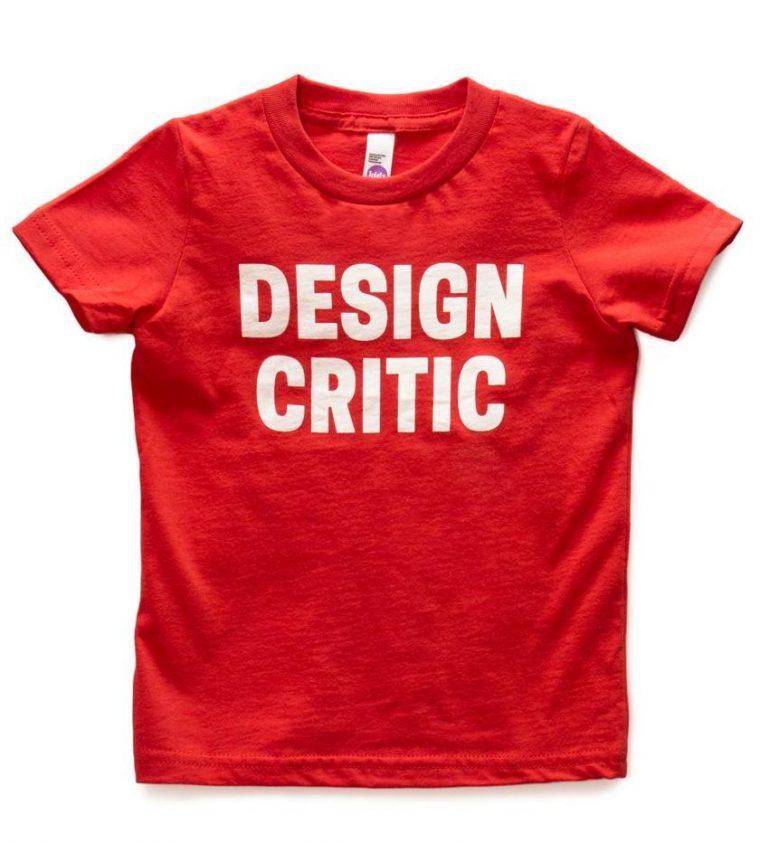 Design Critic kids' T-shirt