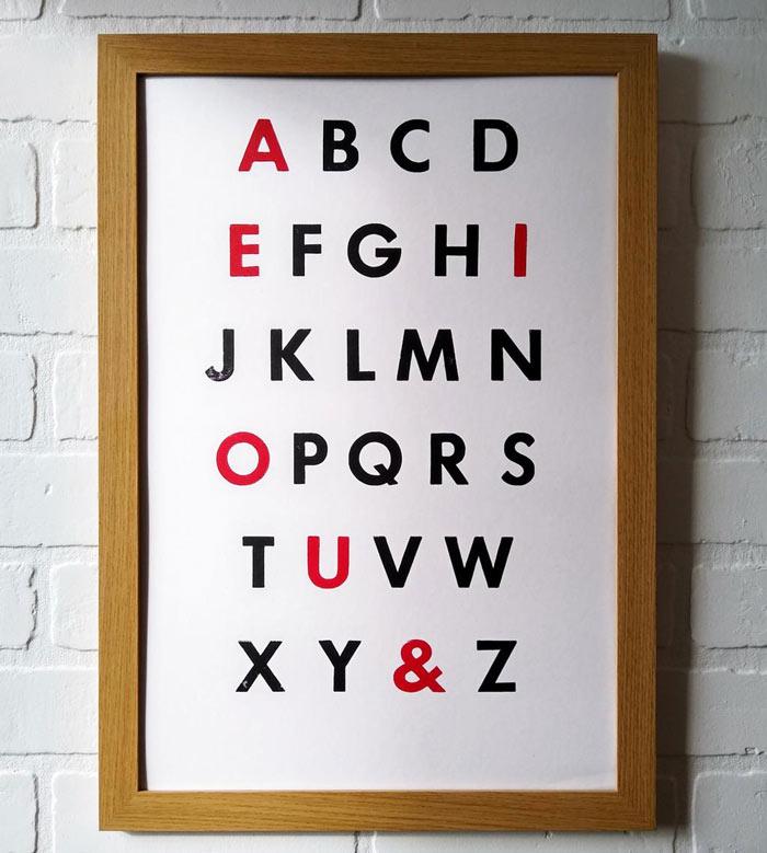 Futura letterpress