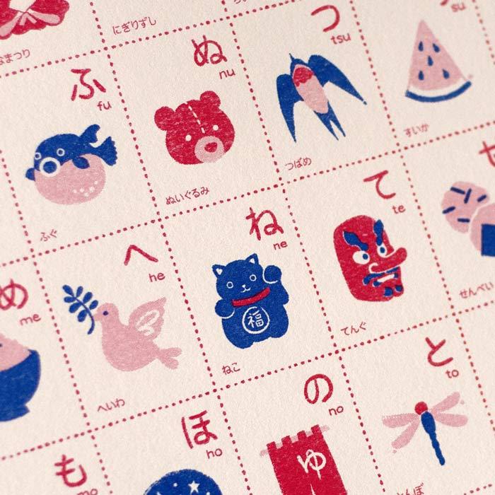 Hiragana and Katakana Chart Risograph A3 Prints
