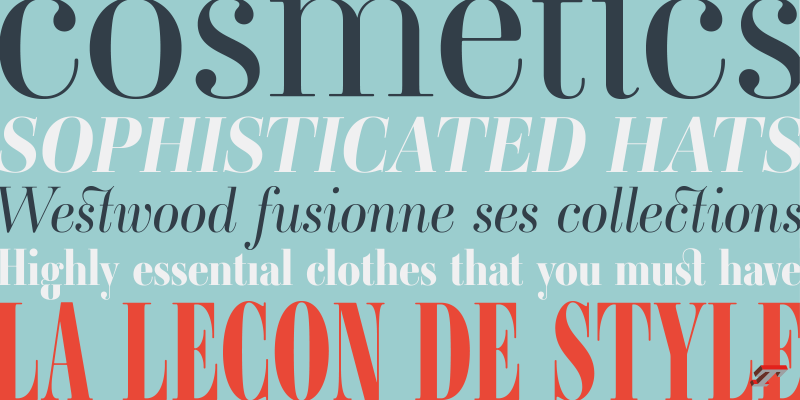 Ambroise font family, a classic Didone from Typofonderie