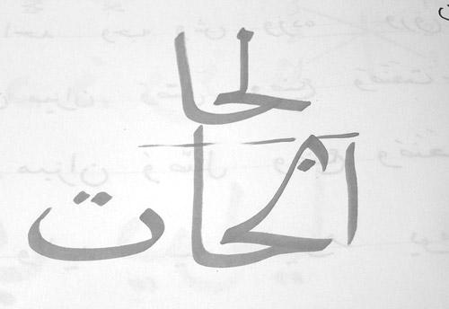 Arabic Calligraphy naskher
