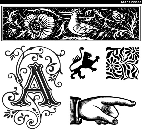 briar press free typographic ornaments
