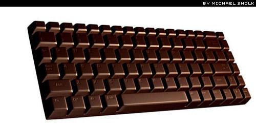 chocolate keyboard by Michael Sholk