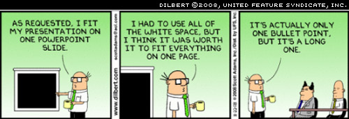 Dilbert on white space