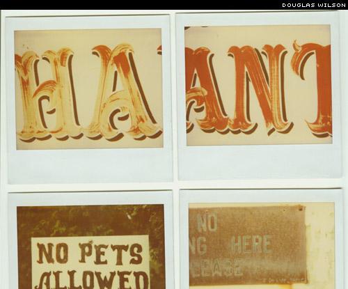 douglas wilson Vernacular Typography