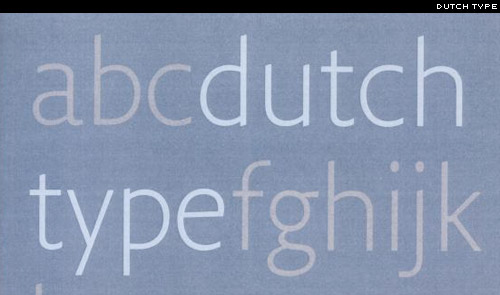 Dutch Type by Jan Middendorp
