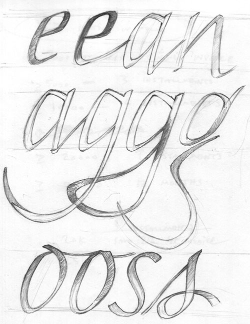 scan of Neil Summerour's type sketch