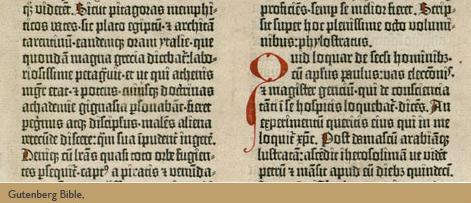 gutenberg bible detail