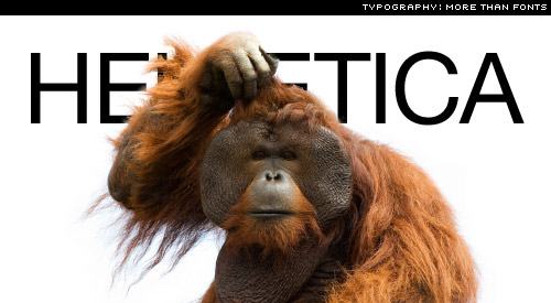 helvetica monkey