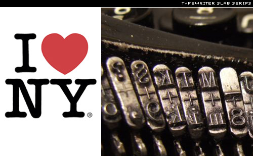 i love ny logo ITC american typewriter