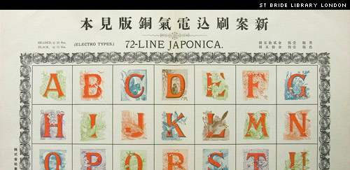 Decorated Initials from the Tokyo Tsukiji Foundry. St Bride Library, London