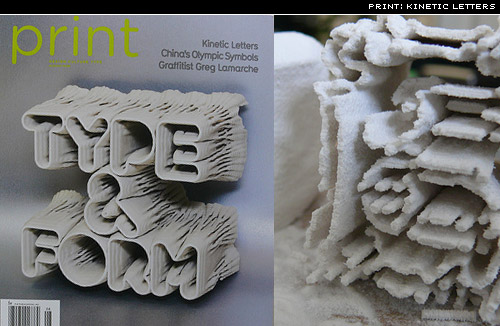 kinetic letters from Print mag