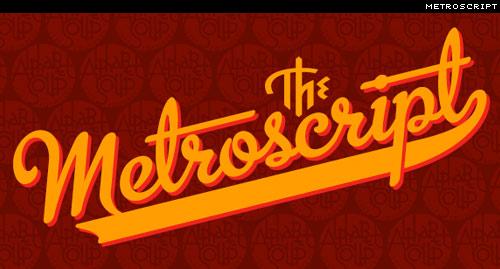 typeface: metroscript