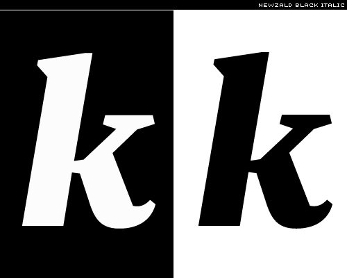 Newzald black italic