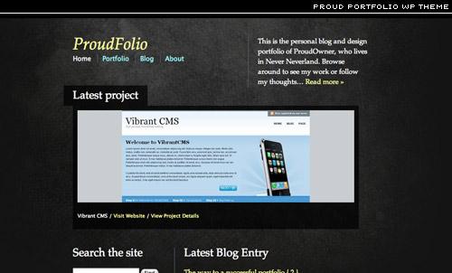 proud portfolio wordpress theme