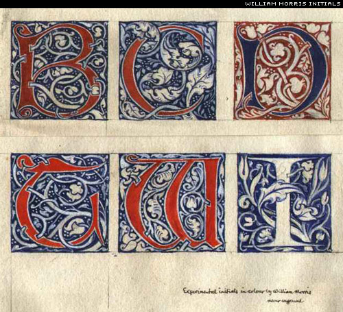 william morris initials